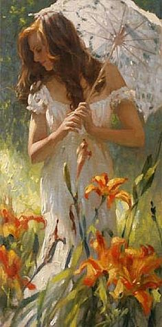 """""""Being female is a matter of birth, being a woman is a matter of age, but being a lady is a matter of choice.""""  ... http://sheismore.com/30-characteristics-of-a-modern-lady/ .... Painting by Richard S. Johnson"""