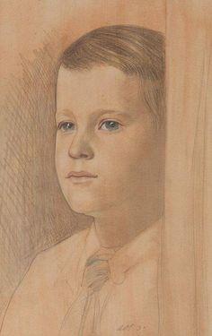 Austin Osman Spare, 1933. Portrait.