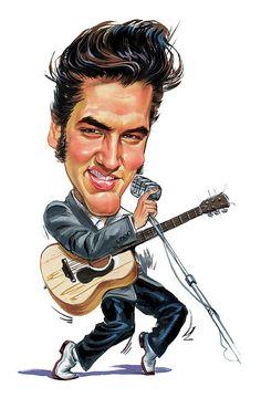 Elvis Presley - Caricature (Art) http://dunway.us