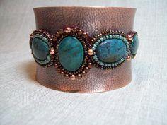 Turquoise copper cuff