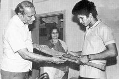 Sachin Tendulkar with Parents
