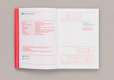 Diseño del libro LEAP Dialogues, por Two Points