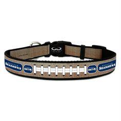 Seattle Seahawks Reflective Football Pet Collar