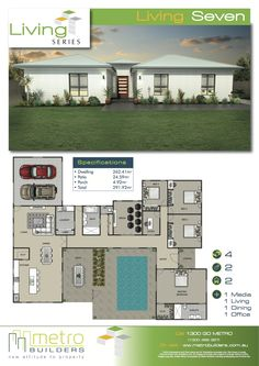 Floor plan designed to maximize views off the back #floorplan ...