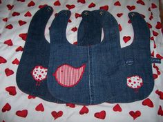 one denim bird: Baby Bibs