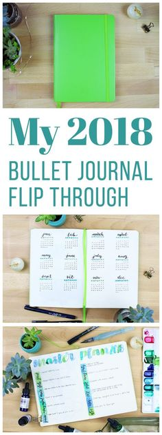 Getting ready for 2018 has been worth every bit of effort, and fun to boot! Now I want to show you my 2018 bullet journal flip through so you can see the whole set up from beginning to end. via @LittleCoffeeFox