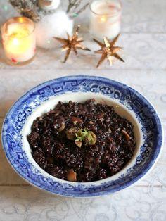 Risotto de riz noir aux châtaignes