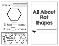 """This 2D shape book is aligned to Common Core Standard K.G.4.  Students trace the shape name, identify how many corners and sides each shape has, and color the given shape in a """"shape hunt"""".  Shapes covered include: square, rectangle, circle, triangle, and hexagon.To Use: Copy, fold in half, staple."""