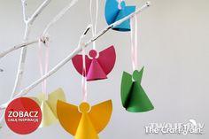 Christmas DIY Papierowe aniołki