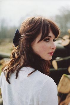 fashion, inspiration, hairstyle, bow, fringe, colour, beauty, makeup