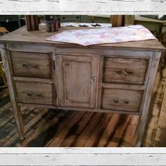 NEW upcycled piece. Great as a buffet server, dresser, entertainment cabinet, etc.  $189.99 #cherisheverymoment #upcycling #homedecor