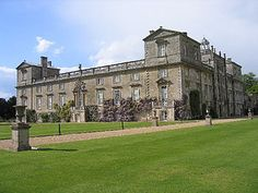 Wilton House, Wilton nr Salisbury, Wilts. Country seat of the Earls of Pembroke for over 400 years. It has long been claimed, without proof, that Hans Holbein the Younger re-designed the abbey as a rectangular house around a central courtyard, which is the core of the present house. On the succession of the 4th Earl in 1630, he pulled down the southern wing + erected a new complex of staterooms in its place. It is now that the second great name associated with Wilton appears: Inigo Jones.