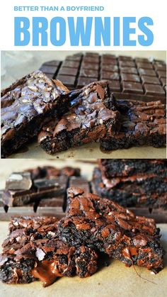 Better than a Boyfriend Brownies are the BEST chocolate brownie recipe out there. It's super simple and can be done in one bowl in no time at all. Rich, chewy brownies will satisfy your chocolate cravings.