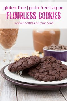 (via Flourless Fudge Cookies | Healthful Pursuit)   #healthy #vegetarian #vegan #recipes Find more healthy recipes @ http://standouthealth.com