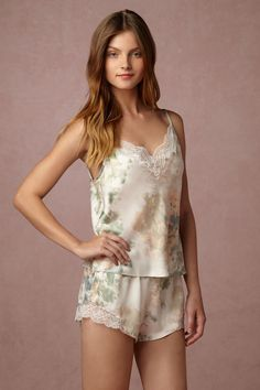 Whispering Blooms Cami & Shorts Set from @BHLDN
