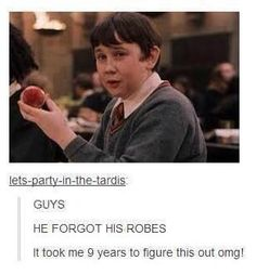 Brilliant! I never knew what Neville forgot either!