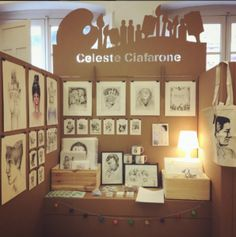 Stand escritorios individuales feria ilustracion Ilustrisima diseñados por Cartonlab. Stand individual desks exhibition ilustrisima designed by Cartonlab.