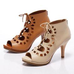 1-2780 Fair Lady 狂野鏤空繫帶露趾高跟涼鞋 米 - Yahoo!奇摩購物中心 Fair Lady, Peeps, Yahoo, Peep Toe, Booty, Ankle, Shoes, Fashion, Swag