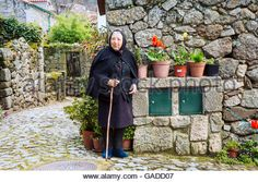 Linhares village in Portugal - Stock Photo