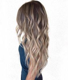 cool toned - Long Brown Balayage Hair