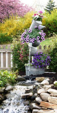 Interesting Garden Fountain - Unique Backyard And Garden Fountains