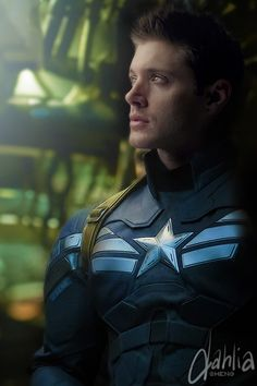SuperAvengers: Dean Winchester as Captain America. And Sam could have been Thor.- Bobby as Fury and Gabe as Iron man and Cas as Hawkeye