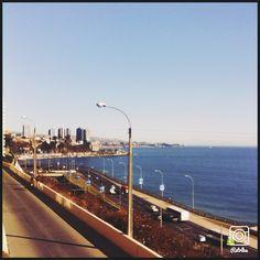 Desde Recreo, mirando hacia avenida España y a lo lejos Club de Yates y Departamentos Gran Ocèano, justo en el lìmite Viña del Mar-Valparaìso...  <3