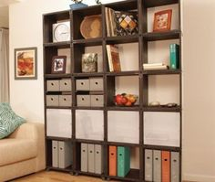 17 Fascinating Wall Unit Bookcase Snapshot Ideas Milk Crate Furniture,  Modular Furniture, Cube Furniture