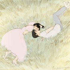 Animes Wallpapers, Cute Wallpapers, Aesthetic Art, Aesthetic Anime, Arte Peculiar, Arte Sketchbook, Couple Art, Pretty Art, Oeuvre D'art