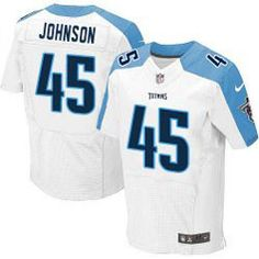 78.00--Quinn Johnson White Elite Jersey - Nike Stitched Tennessee Titans   45 Jersey 52758d5b7