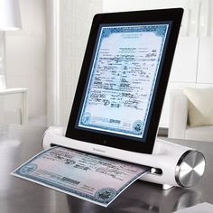 Admit it, you probably have too many recipe cards, receipts and documents flying around the house. This iPad scanner helps you to finally get rid of the paper piles. Access and view your recipes/documents straight from the screen! No smudgy kitchen papers!