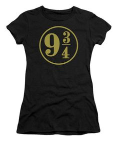 Love this Black Harry Potter Black '9 3/4' Tee - Juniors on #zulily! #zulilyfinds