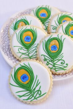 Haniela's: Peacock Feather Cookies