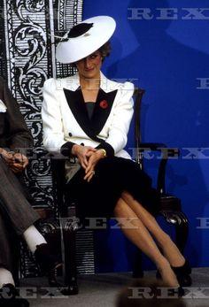 November 10 1985 Princess Diana  at the National Gallery of Art in Washington