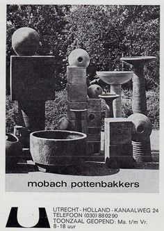 1974, advertisement for Mobach pottery..