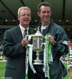 Tommy Burns Scottish Footballer | cup winner burns with celtic s billy stark in 1995