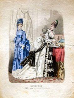 Dresses, 1874 Austria-Hungary (modern-day Budapest, Hungary), Budapesti Bazárra