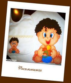 Pintura em Tecido - Conjunto Fralda e Babete de Bebé  *** Aceito Encomendas www.pinceladasearte.blogspot.pt