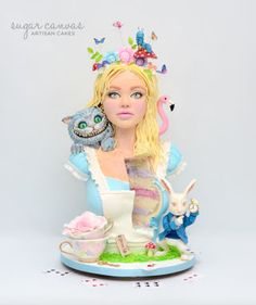 Alice In Wonderland Sculpted Cake
