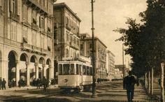 """For the programme """"How we were"""", a picture of via Roma in Cagliari in the 30's, with a characteristic  electric tram. Have a nice Monday from Cagliari Holidays"""