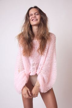 blush pink crop sweater