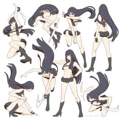 ryuko: ♔ Aside from the fact she has no clothes, these are good poses