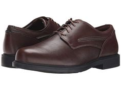 Dunham Burlington Waterproof (Smooth Brown) Men s Plain Toe Shoes.  Classically styled durable casual 8cfcb853d64a