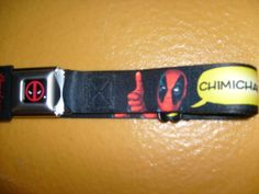 MARVEL DEADPOOL CHIMICHANGAS POLYESTER BUCKLE DOWN SEATBELT BELT ADJUSTABLE OSFM #BUCKLEDOWN