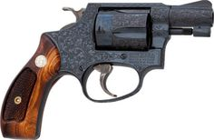 Double Action Revolver, Boxed and Engraved Smith & Wesson Model 36 Double Action Revolver