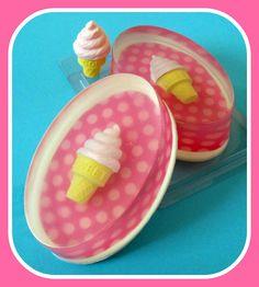 ice cream eraser in M&P soap