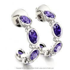 Tanzanite Earrings Adagio at Colors of Eden