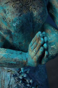 ♂ Blue Nicole Merkens ceramic sculpture at MudFire Gallery