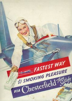 Smoking imagery from the past.