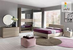 Nella sua versione in rovere grigio, la camera da letto City crea ...